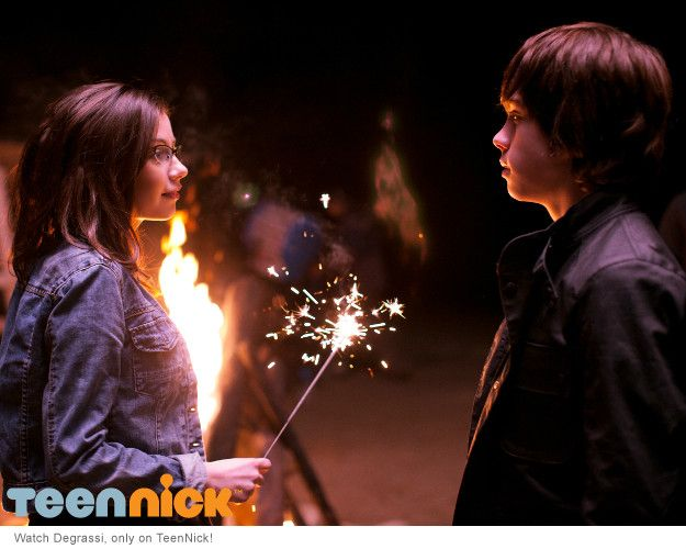 New character Imogen and Eli at the Degrassi: Now or Never teaser shoot
