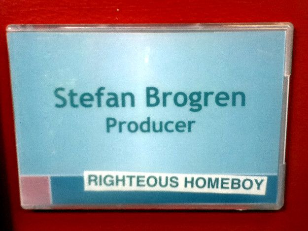 Stefan Brogren's office nameplate at Epitome