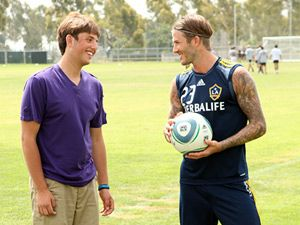 Kyle Weiss and David Beckham, 2011 HALO Awards