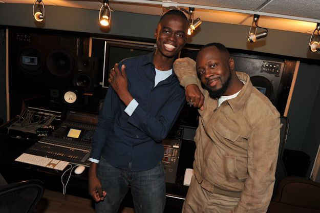 2010 TeenNick HALO Awards honoree Herold Charles with Wyclef Jean