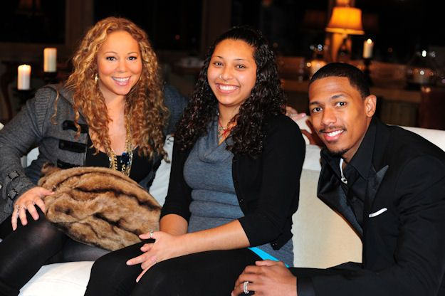 2010 TeenNick HALO Awards honoree Lauren Huichan with Mariah Carey and Nick Cannon