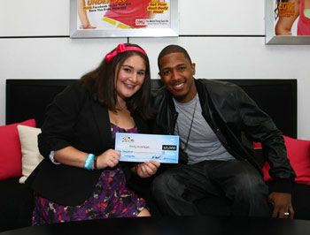 Emily-Anne Rigal with Nick Cannon