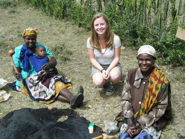 Charlotte Arnold in Kenya