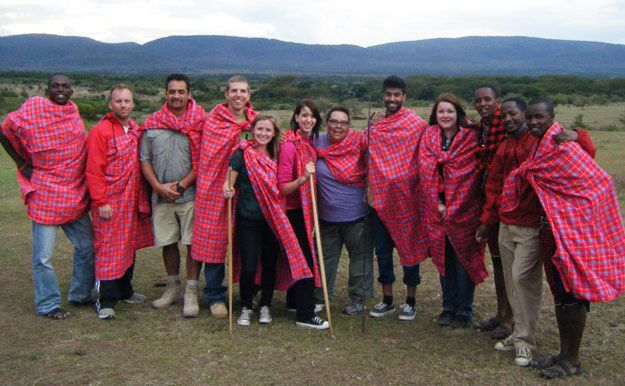 Group shot wearing shukas.