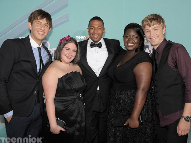 The 2011 TeenNick HALO honorees with host Nick Cannon