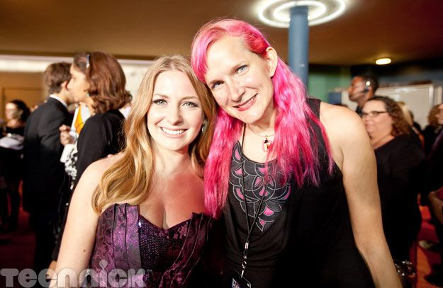 Charlotte Arnold (Holly J on Degrassi) with TeenNick blogger Lisa Beebe