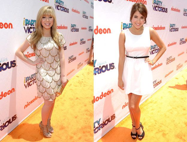 Jennette McCurdy and Daniella Monet at the iParty with Victorious premiere