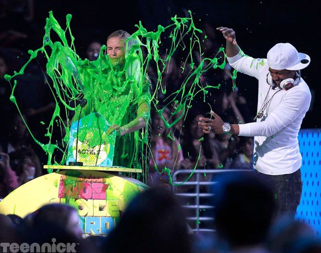 Heidi Klum and Nick Cannon get slimed!