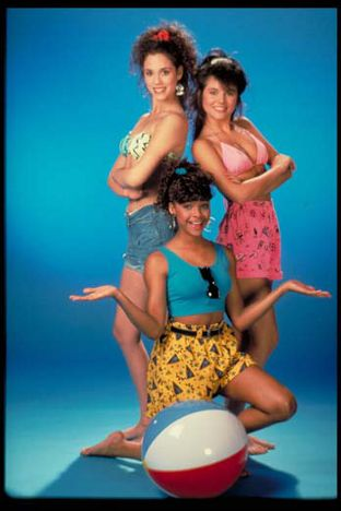 Kelly, Jessie, and Lisa Turtle from Saved by the Bell