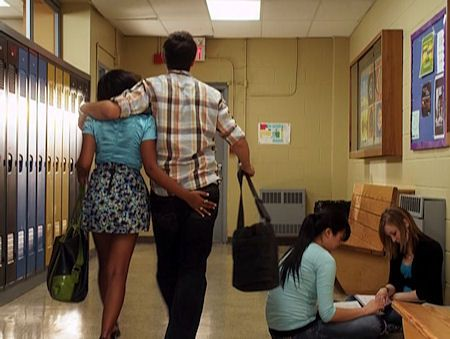 Alli grab's Drew's butt on Degrassi