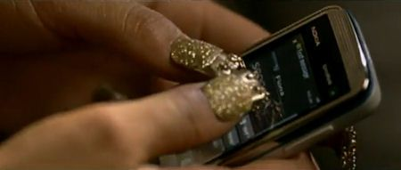 Jordin Sparks' gold nails