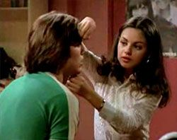 Hold still, Kelso...