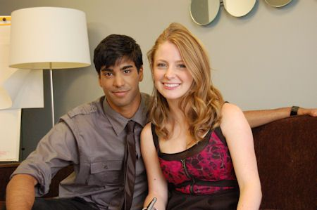 Ray Ablack and Charlotte Arnold, Sav and Holly J on Degrassi, at the TeenNick offices, July 2010
