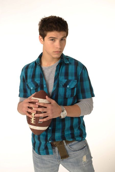 Drew with a football.