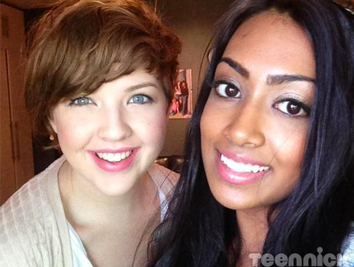 Aislinn Paul and Melinda Shankar are friends on camera and off!