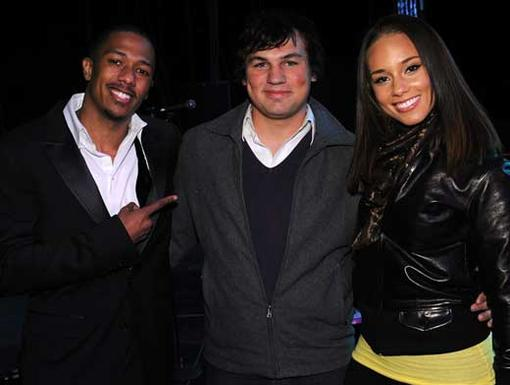 Nick, Brryan and Alicia Keys|Chairman Nick introduced 2009 TeenNick HALO Award winner Brryan Jackson to Alicia Keys, who shares his dedication to AIDS awareness.
