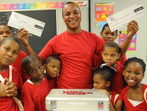 Darrius and his B-Team Kids|The first in his family to graduate high school, Darrius helps kids in impoverished neighborhoods see the possibility of a brighter future.