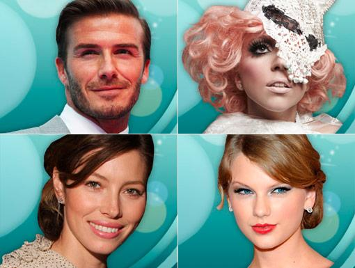 HALO 2011 Celebrities: Lady Gaga, Taylor Swift, Jessica Biel, & David Beckham