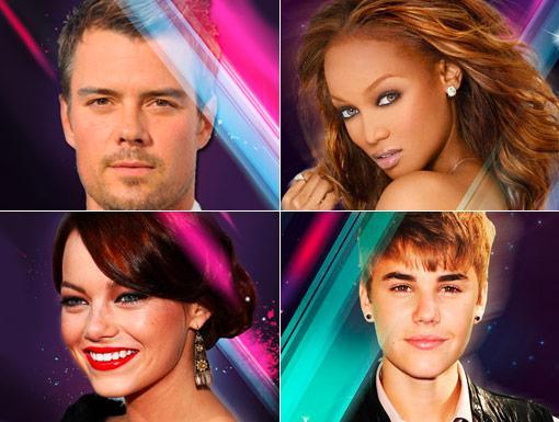 HALO 2012 Celebrities: Tyra Banks, Justin Bieber, Emma Stone, & Josh Duhamel