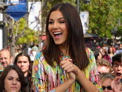 Here's Victoria Justice now--the star of
