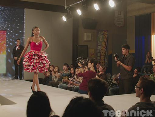 Stomping the runway in red. Go, Keisha!