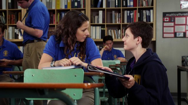 Fiona and Adam on Degrassi: In Too Deep, When Love Takes Over